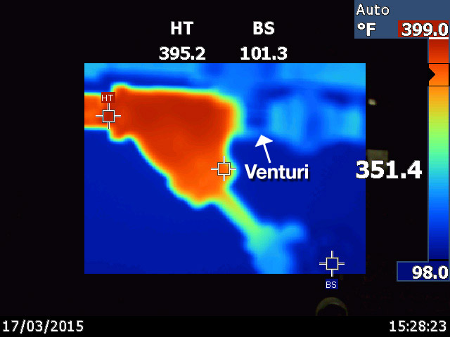 Thermal image of Enercon Venturi 240 PSIG Supplied Quebec Paper Mill